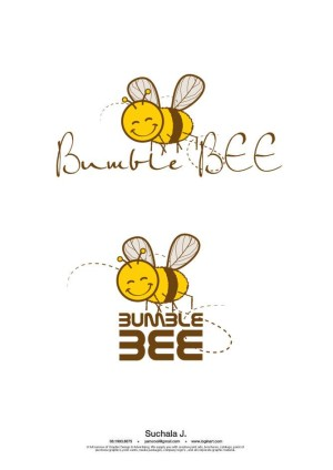 Bumble BEE cafe' logo design
