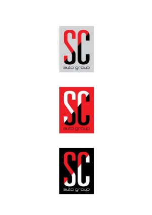 SC auto group logo design
