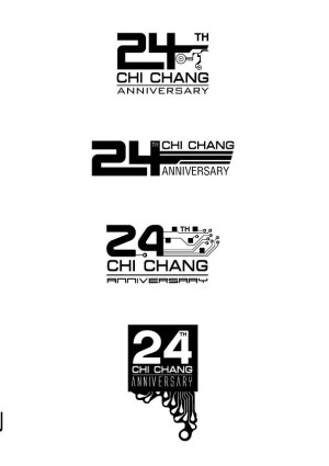 24th CHI CHANG anniversary logo design