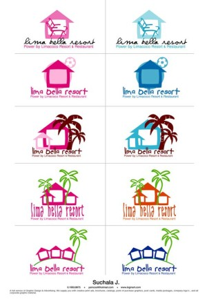 Lima Bella resort (Samed Island) logo design