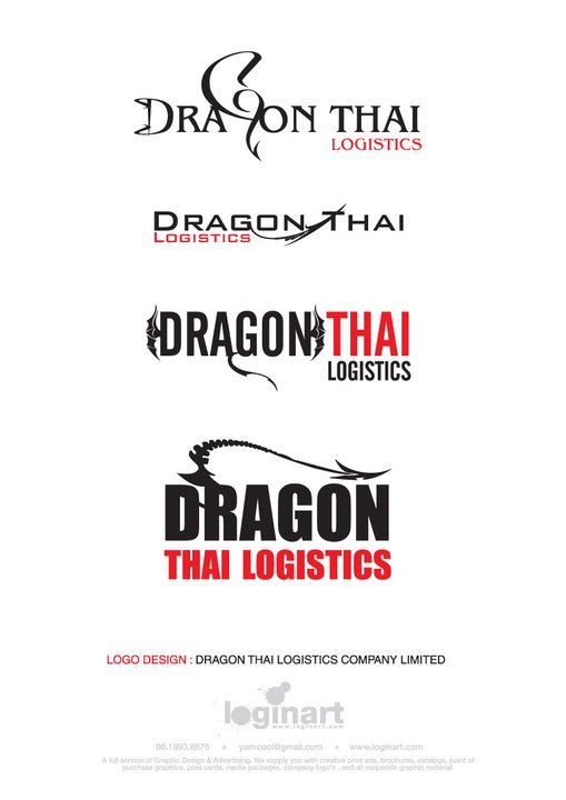 Dragon Thai logo and CI design